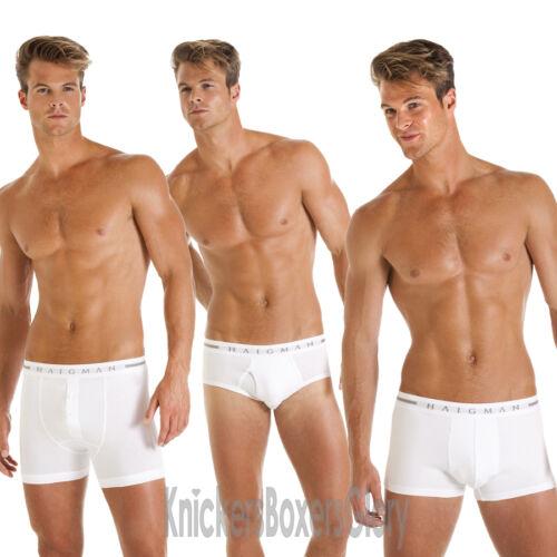 Mens Boxer Shorts Trunks Briefs Black//White S M L XL 2//3 Pairs Haigman Underwear