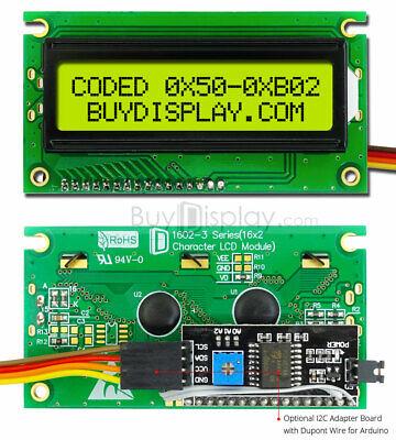 Yellow IIC/I2C Serial 16x2 Character LCD Display Module for Arduino  w/Library | eBay