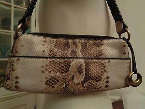 Image Is Loading Donald J Pliner Exotic Snake Pattern 100 Leather