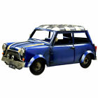 Vintage Classic Blue Mini Car Model Tin Ornament Collectable