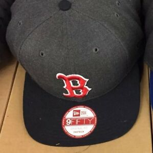 Boston-Red-Sox-Gray-Red-New-Era-9Fifty-Snapback-Hat-Cap