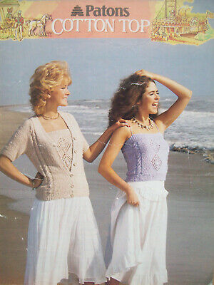 Ladies WAISTCOAT /& TANK TOP KNITTING PATTERN DK 32-38 inch Patons 2301