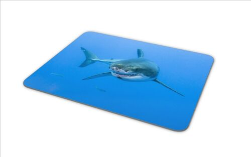 Scuba Diving Diver Cool Gift PC Computer #8391 Great White Shark Mouse Mat Pad