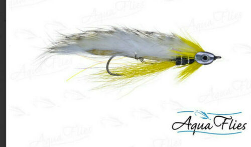 Trailer #4 Aqua Flies USA FISH SKULL Black Ghost