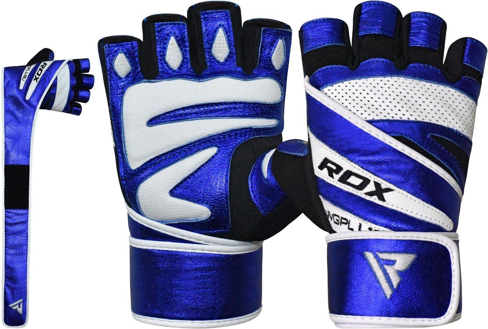 RDX Gewichtheffen handschuhe Fitness Workout Gloves Sporthandschuhe Blau S NL