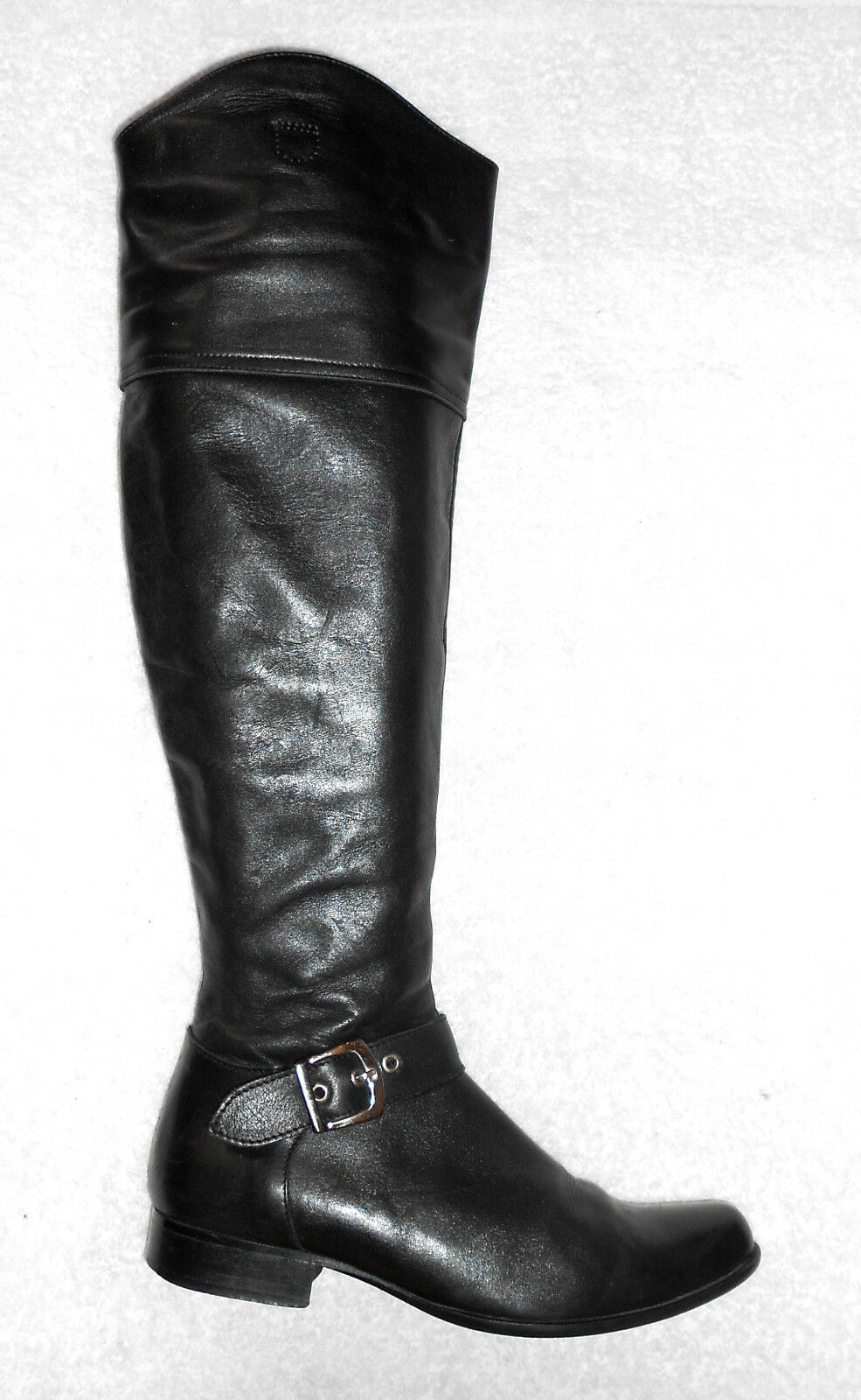 MINKA Design bottes plates zippées cuir noir P 37 TBE
