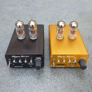 6J1 Portable stereo Class A tube headphone Pre-AMP MP3/USB