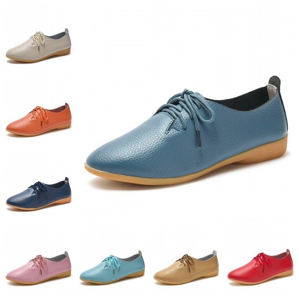 35-44 Femmes PU cuir à lacets Confort Oxford College Chaussures Plat Mocassin BB