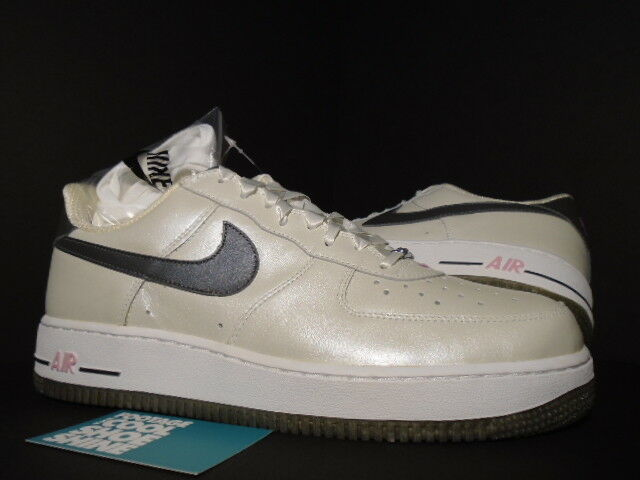 06 Nike Air Force 1 QUINCEANERA PEARL Weiß PEWTER grau Rosa 307109-102 12 10.5