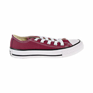 caccbe3dc52c28 Converse All Star Chuck Taylor Canvas Shoes Low Top Maroon Youth ...