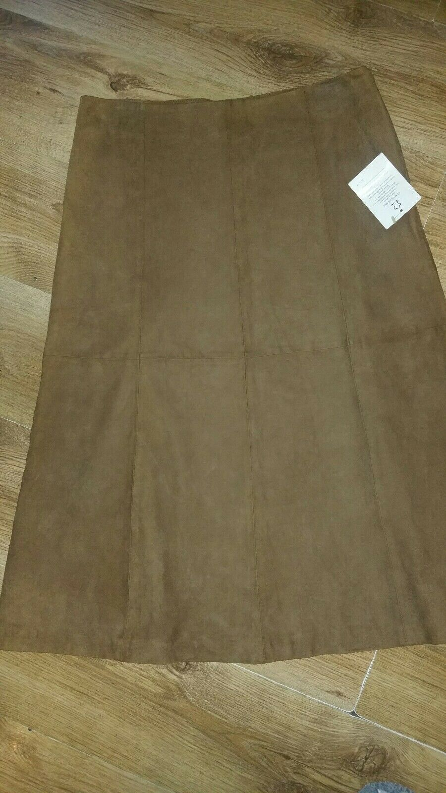 BNWT suede leather panelled skirt from COVE size 14 priced
