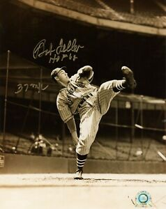 Bob-Feller-Signed-Inscribed-034-HOF-034-8x10-Photo-Indians-MLB-COA-Autograph-Baseball