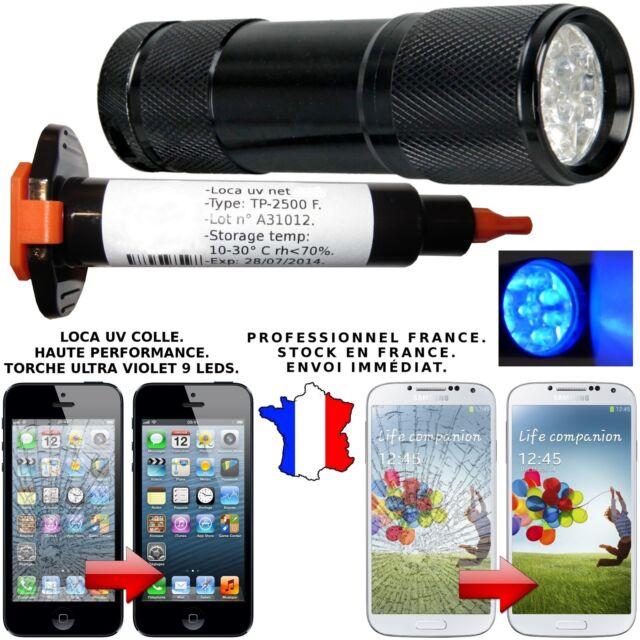 LOCA UV COLLE GLUE 3 ML + TORCHE UV GALAXY S3 S4 IPHONE 4 5 RÉPARATION VITRE LCD