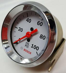 Bosch-Performance-Style-Line-brand-oil-pressure-chrome-bezel-white-face-2-034-gage