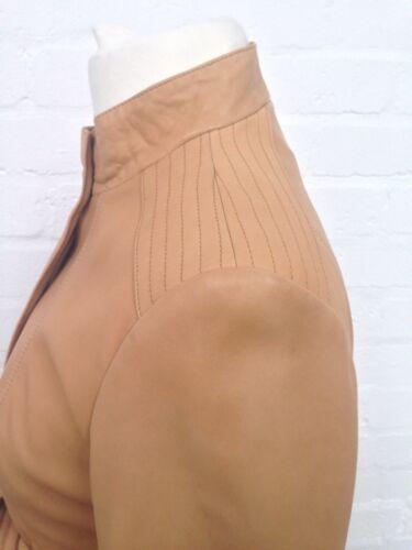 Great Uk14 Leather Womens John Jacket Condition Lewis Beige waRRxz