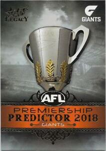 Silver Premiership Predictor 020/180 pp18 Contemplative 2018 Select Legacy Gws