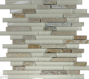 backsplash glass tile samples sample beige glass linear mosaic tile 220