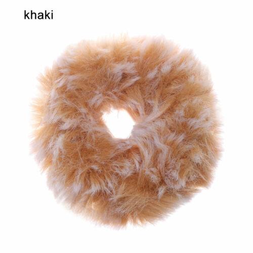 Women Winter Plush Scrunchies Elastic Hair Bands Scrunchy Cute Hair Tie Rope