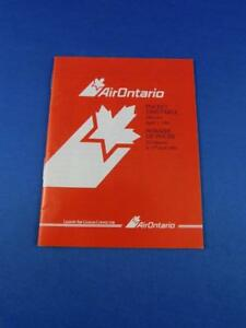 AIR-ONTARIO-AIRLINE-POCKET-TIMETABLE-APRIL-1991-ADVERTISING-TRAVEL