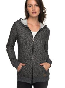 a80e35b8371f8 Image is loading Roxy-Womens-Trippin-Zip-Up-Hoodie-Anthracite-Heather