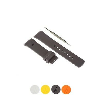 Liberal 22mm Selicone Watch Strap Band Fits For Nautica A13016g A2629g A19557g W/ Tool