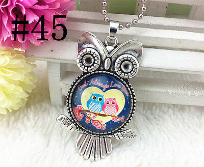 HOT!!! OWL Silver Plated CHAIN NECKLACE Alloy & Pendants