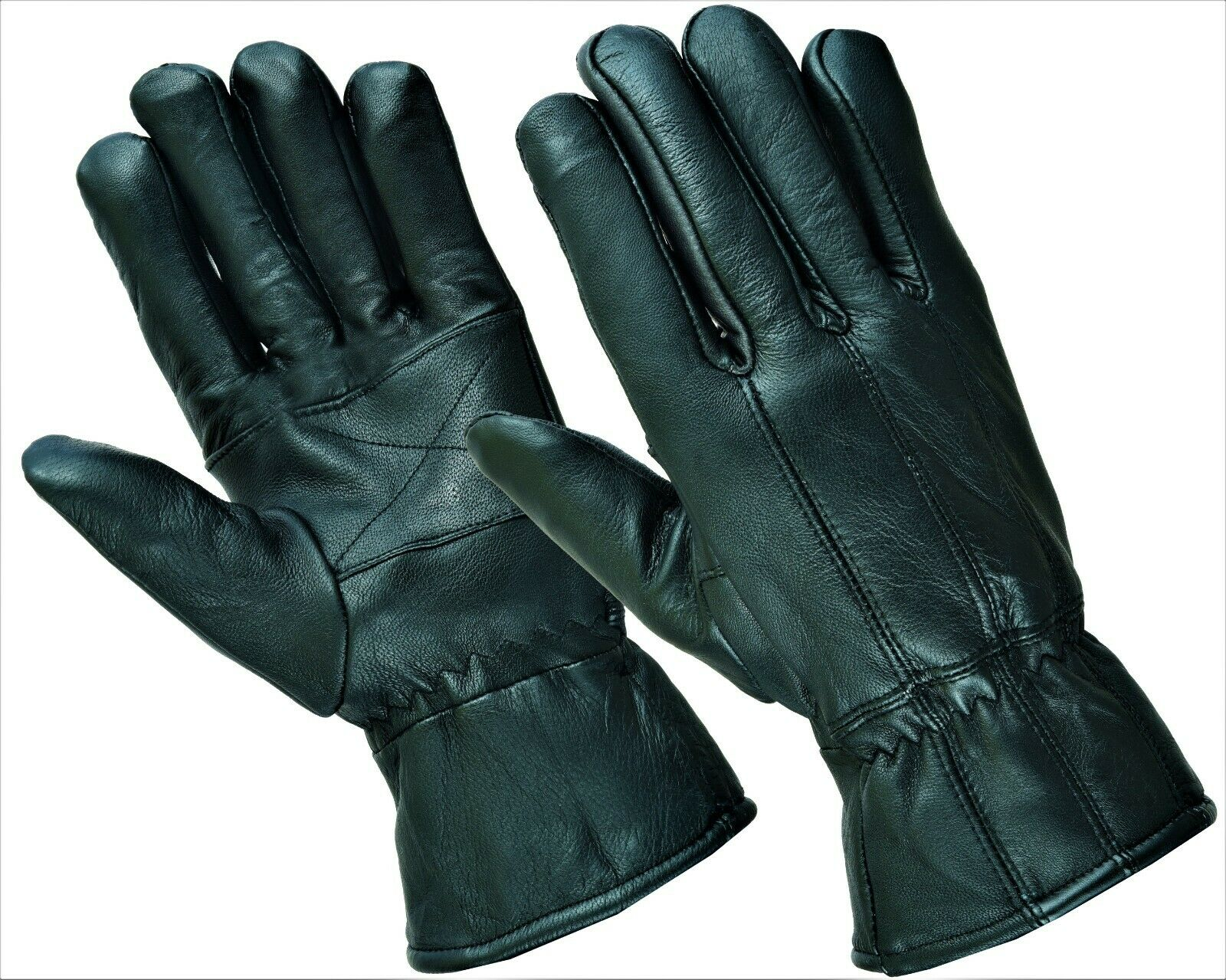 FREE DELIVERY Luxury Real Leather Gloves Thermal Lined Riding Driving in Winter