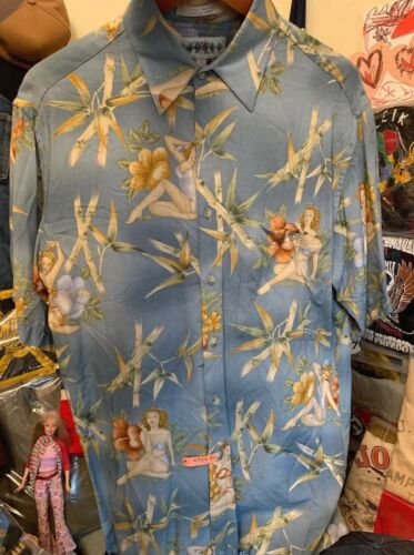 Men's Hawaii Pinup Campia 100% Rayon Short Sleeve