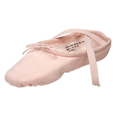NWT CAPEZIO 2039 SPLIT SOLE BALLET SHOES CANVAS PRO PINK DANCE