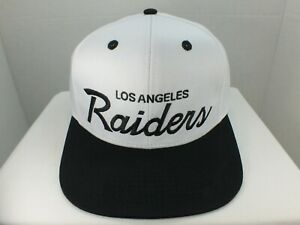 Los-Angeles-Raiders-Hat-Script-NFL-Retro-Snapback-2-TONE-White-Black-Cap-NEW