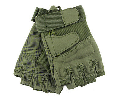 Blackhawk Hell Hell US Army Outdoor Combat Bicycle Half Fingerless Gloves Green