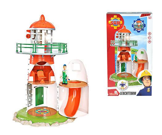 Feuerwehrmann Sam Leuchtturm mit Figur Mike ++ Sound & Licht SIMBA ++ 109252133