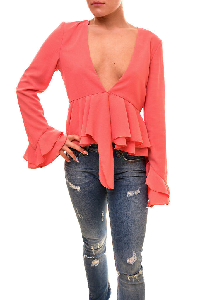 Finders Keepers Women's Long Sleeve Kindred Top Papaya Size S RRP  BCF86