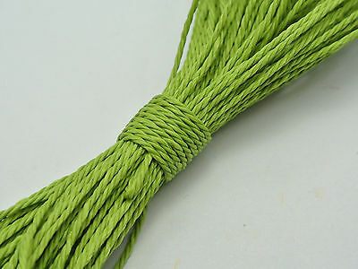 50 Meters Light Green Waxed Polyester Twisted Cord String Thread Line 1mm