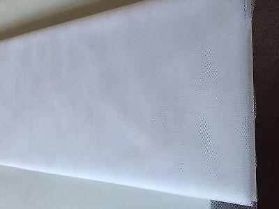 WHITE Soft Net Wedding Dress Net Tutu Tulle Mesh Fabric  1m x 150 cm Width