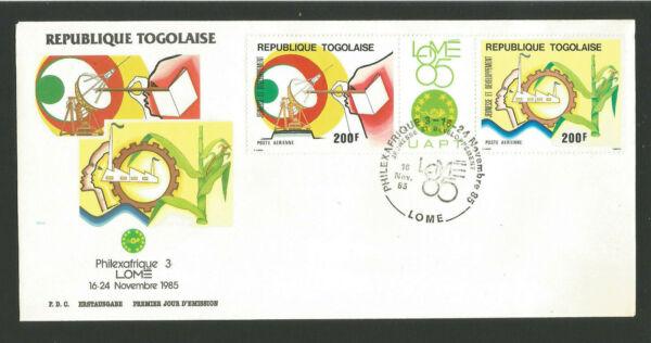 Fdc 1er Jour République Togolaise 1985 Philexafrique 3 Lomé /l1717 Beau Travail