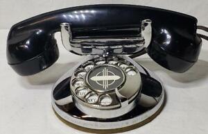 Vintage Automatic Electric 1A Chrome Desktop Telephone Monophone Pat Jan 1915