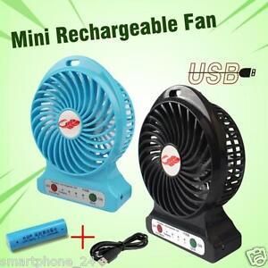 mini kompakt ventilator portable fan rechargeable akku battery usb tisch k hler ebay. Black Bedroom Furniture Sets. Home Design Ideas