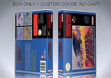 F ZERO. PAL VERSION. Box/Case. Super Nintendo. BOX + COVER. (NO GAME).