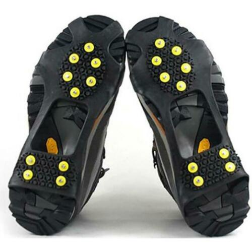 Anti-Slip Shoe Boot Grips Pad Winter Snowing Ice Gripper Studded Crampons Covers