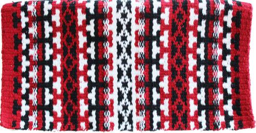 34x36 Horse Wool Western Trail SADDLE BLANKET Pad Rug Red 36389