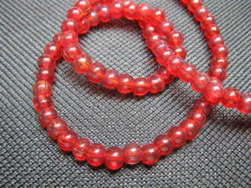 80 perlas nuevo s207 1 Strang abalorios 4mm rojo aprox