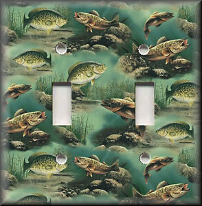 Light Switch Plate Cover Bass Fishing Fish Home Decor
