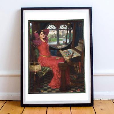 Waterhouse Lady Of Shalott Sick Of Shadows Painting 8x10 Real Canvas Art Print