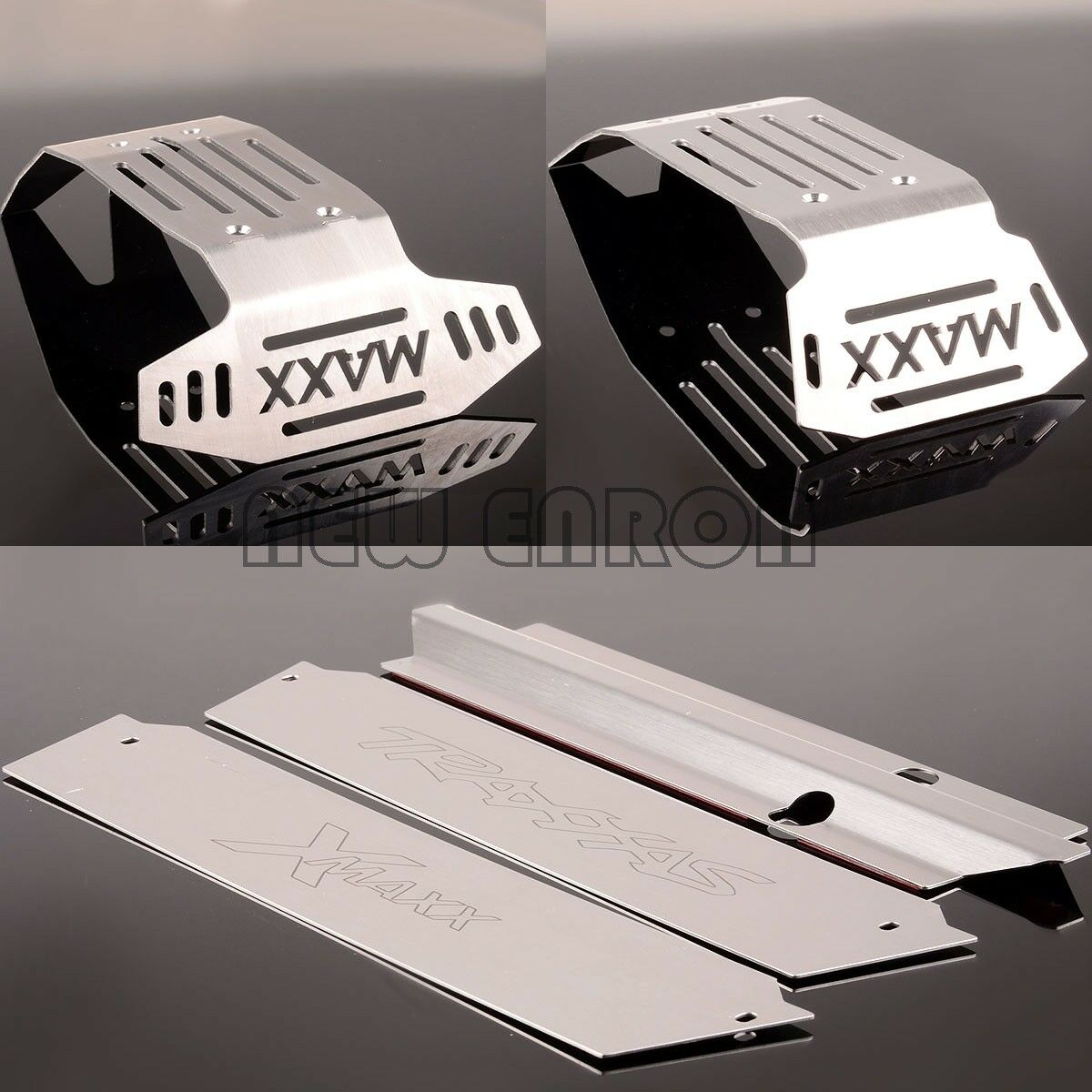 RC Hollow Stainless Steel Chassis Armor F&R Skid Plate 1 5 Traxxas X-Maxx XMAXX