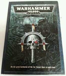 BOOK-Warhammer-40-000-Rule-Book-Games-Workshop-2002-Hardback-4th-Edition-RPG