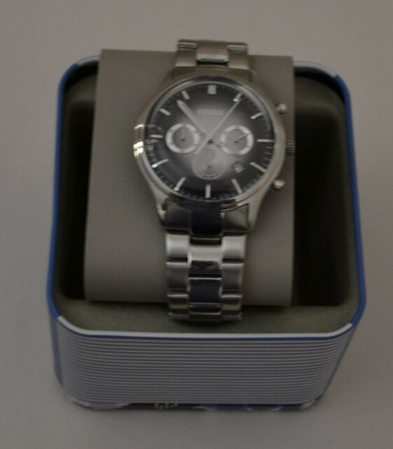 36931563afb Fossil Men s Chronograph Dress Stainless Steel Bracelet Watch FS4673 ...