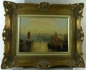 William-Edward-Webb-Hafeneinfahrt-von-Venedig-Santa-Maria-della-Salute-vor-1900