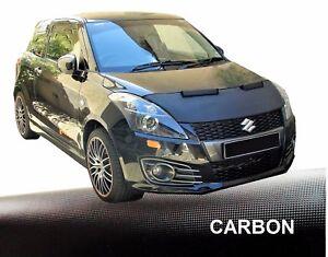 Haubenbra-fuer-Suzuki-Swift-3-MZ-EZ-Car-Bra-Steinschlagschutz-Tuning-CARBON