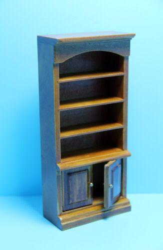 Dollhouse Miniature Wood Bookcase Cupboard in Walnut ~ T6611